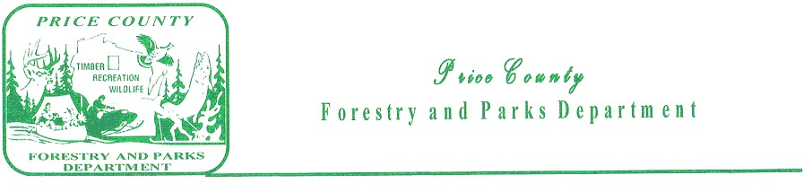 Price County Forestry & Parks Banner Logo